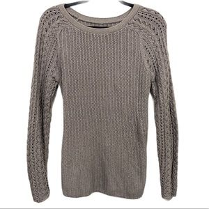 Ann Taylor Loft gray textured pullover sweater